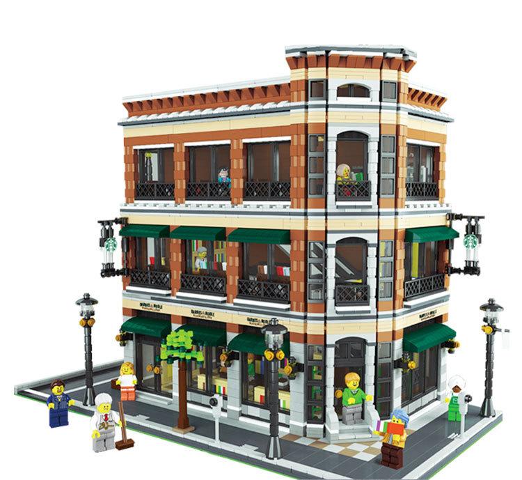 Modular Building Barnes Noble Starbucks Store Lepin 15017