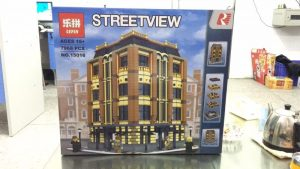 Lepin15016 Apple Square University Modular Building original box front view 02